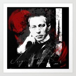 Sergei Rachmaninoff - Russian Pianist, Composer, Conductor Art Print