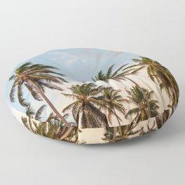 Sky beach palmier Floor Pillow