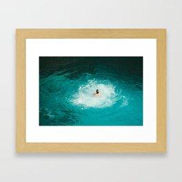 Tropical Swim Framed Art Print