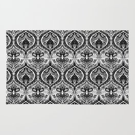 Simple Ogee Black & White Rug