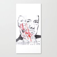 house of cards Canvas Prints featuring House of Cards by 13 Styx