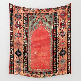 Sivas  Antique Cappadocian Turkish Niche Kilim Wall Tapestry