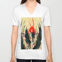 dragon V-neck T-shirts featuring  Dragon  by Shane R. Murphy