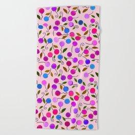cherry-berrie jumble ... Beach Towel