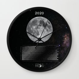 Moon calendar 2020 #5 Wall Clock