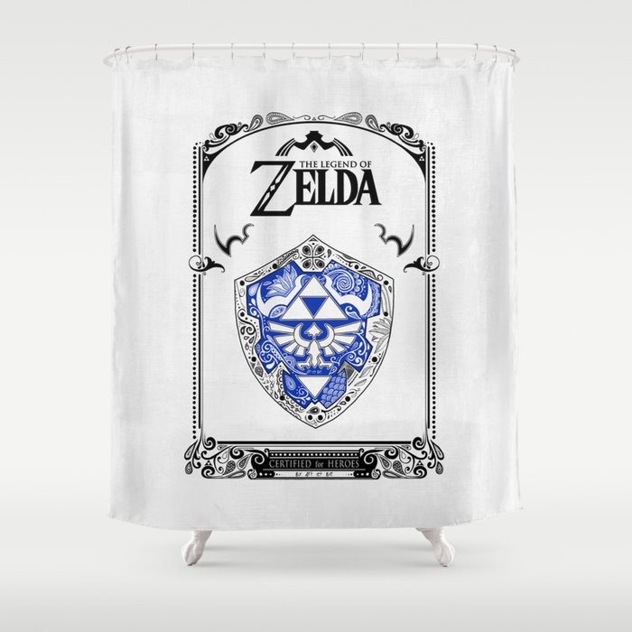 Zelda legend - Hylian shield Shower Curtain