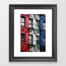 NYC Red White Blue Framed Art Print