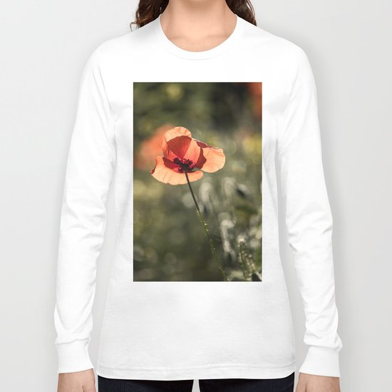Enlightened Poppies at early backlight Long Sleeve T-shirt