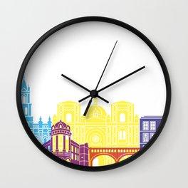 Cuenca EC skyline pop Wall Clock