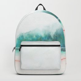 blue and green Backpack