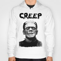 frankenstein Hoodies featuring Frankenstein  by negativecreep