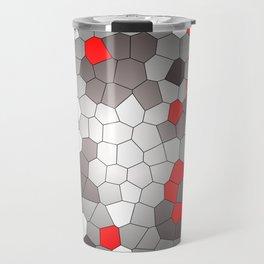 Mosaik grey white red Graphic Travel Mug