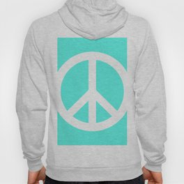 Peace (White & Turquoise) Hoody