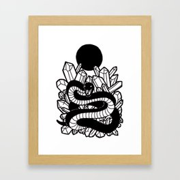 Crystal Moon Serpent Framed Art Print