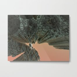 City On Fire (3D Digital Fractal Art) Metal Print