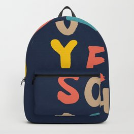 So Yeh pink blue and yellow graphic design typography poster bedroom wall home decor Backpack