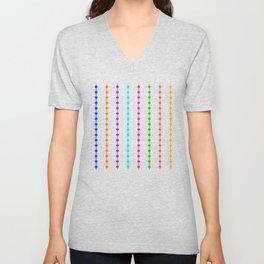 Geometric Droplets Pattern - Rainbow Colors Unisex V-Neck
