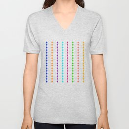 Geometric Droplets Pattern - Rainbow Colors Unisex V-Neck
