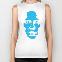 christopher walken Biker Tanks featuring Walken by Aaron Synaptyx Fimister