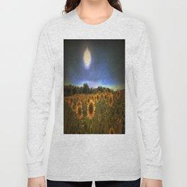 Moonlit Sunflowers Long Sleeve T-shirt