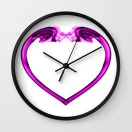Love Smoke Pink 2 Wall Clock