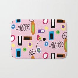 Mod Abstract Pink Bath Mat