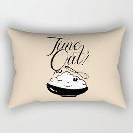 Time Oat - Funny Kawaii Oatmeal Rectangular Pillow