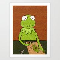 kermit Art Prints featuring Kermit by Sylvie R.