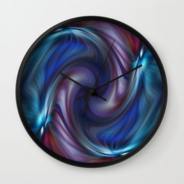 Colors With a Twirl Wall Clock