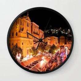 Cours Saleya Evening In Vieux Nice Wall Clock