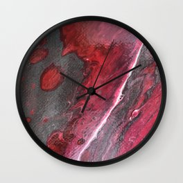 Red and Silver Wall Clock