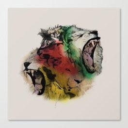 Lion Structure Canvas Print