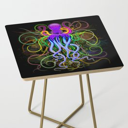 Octopus Psychedelic Luminescence Side Table