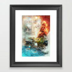 The 4 elements of the Zodiac Framed Art Print