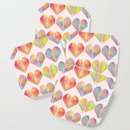 pastel heart Coaster