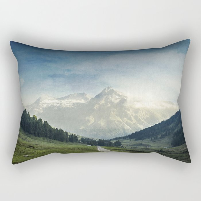 the Alps - Sunlit Suretta Massif Rectangular Pillow