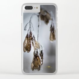 Frost Crytals Clear iPhone Case