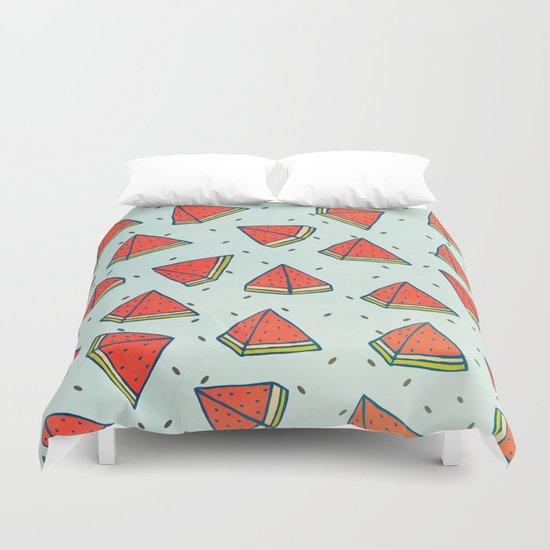 Watermelon doodles  Duvet Cover