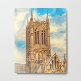 Central Tower of Lincoln Cathedral Metal Print