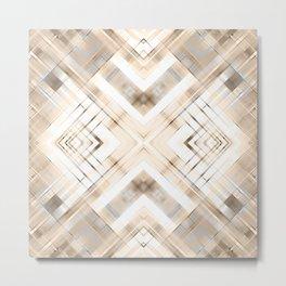 Beige abstract pattern . Metal Print
