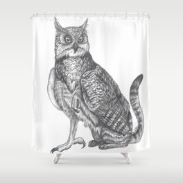 Domestic Gryphon Shower Curtain