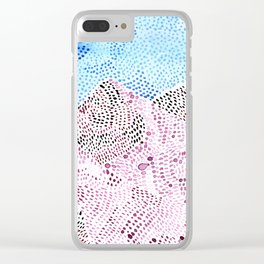 pink snow Clear iPhone Case