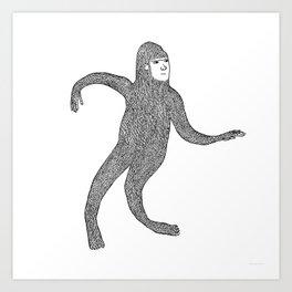 Bigfoot Doing The Wave Art Print