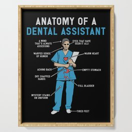 Funny Anatomy of a Dental Assistant Serving Tray