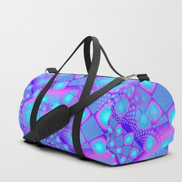 Neon Molecules Psychedelic Fractal Duffle Bag