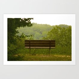 Save a seat for me Art Print