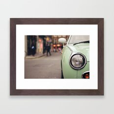 The green car Framed Art Print
