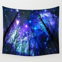 the fault Wall Tapestries featuring black trees purple blue space by 2sweet4words Designs