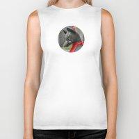 kitsune Biker Tanks featuring Kitsune Fox by Stevyn Llewellyn