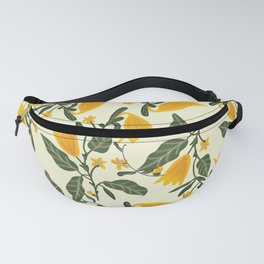 Yellow Bright Flower Pattern Fanny Pack
